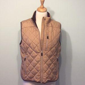 Lands End Quilted Puffer Zipper Vest